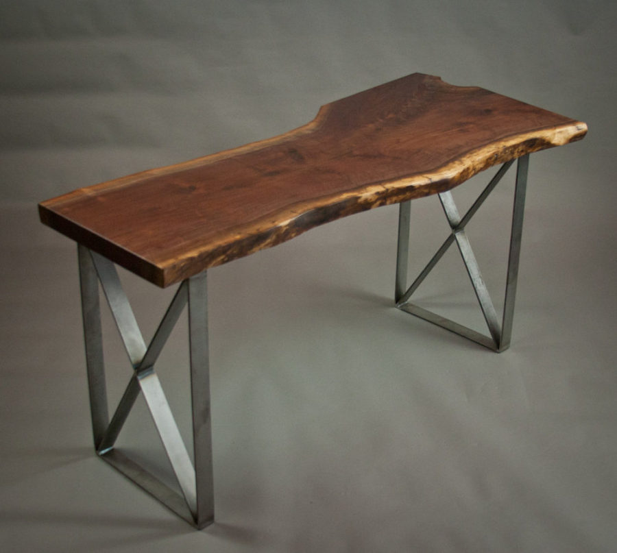 Make Your Office More Eco Friendly With a Reclaimed Wood Desk : Epis Wood Live Edge Walnut Desk 900x807 from www.trendir.com size 900 x 807 jpeg 64kB