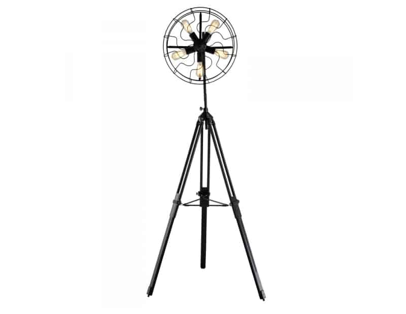 FAN Tripod Floor Lamp Black