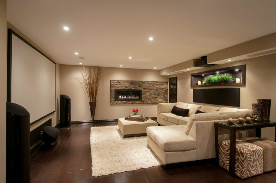 ... Family Room In A Stittsville Basement By Just Basements