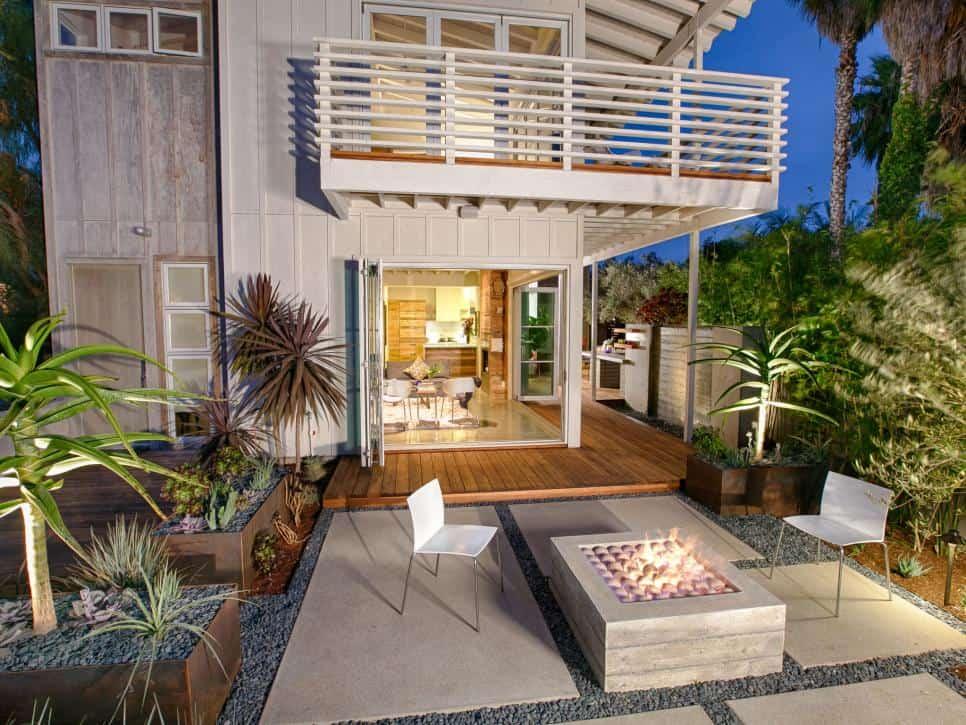 Fire pit patio idea
