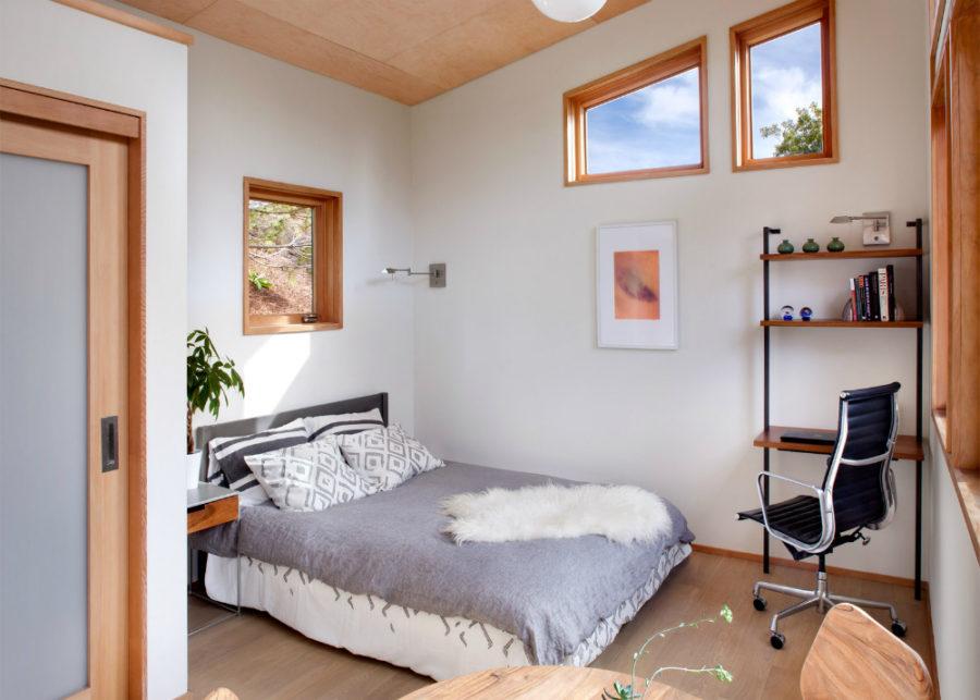 Flat-pack house bedroom