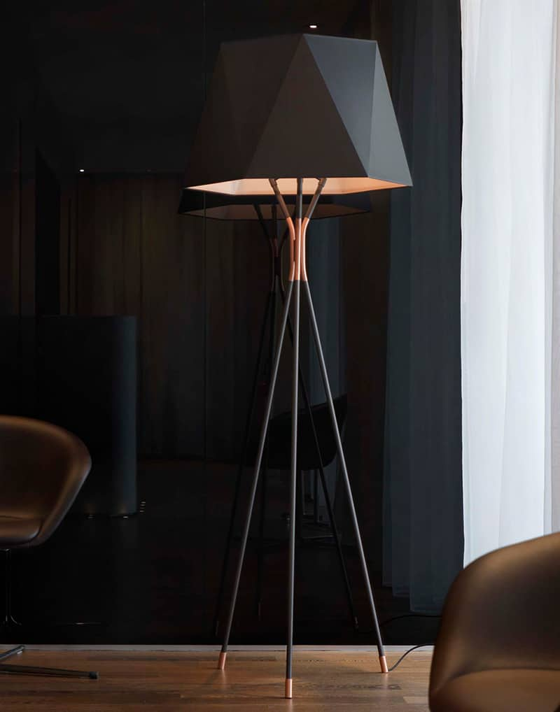 .  absolutely not boring tripod floor lamp designs
