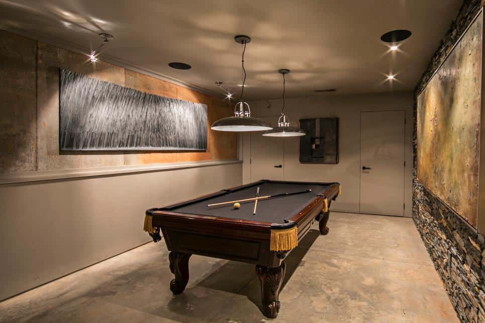 Game room design by Triptych Architecture