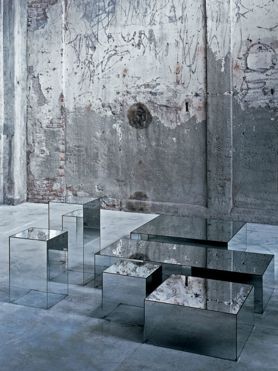 Glass coffee table Illusion by Glas Italia