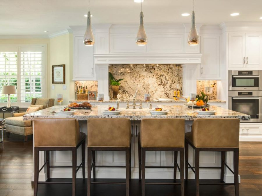 Granite backsplash by Denise Ward Interior Design