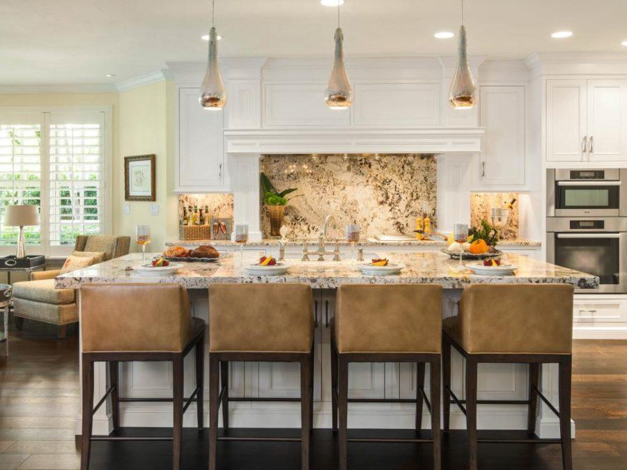 Granite backsplash by Denise Ward Interior Design