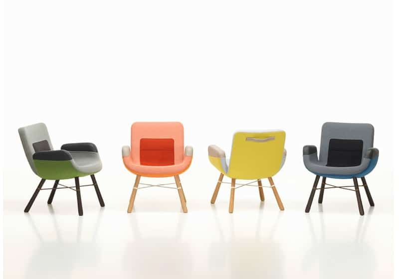Hella Jongerius lounge chair by Vitra