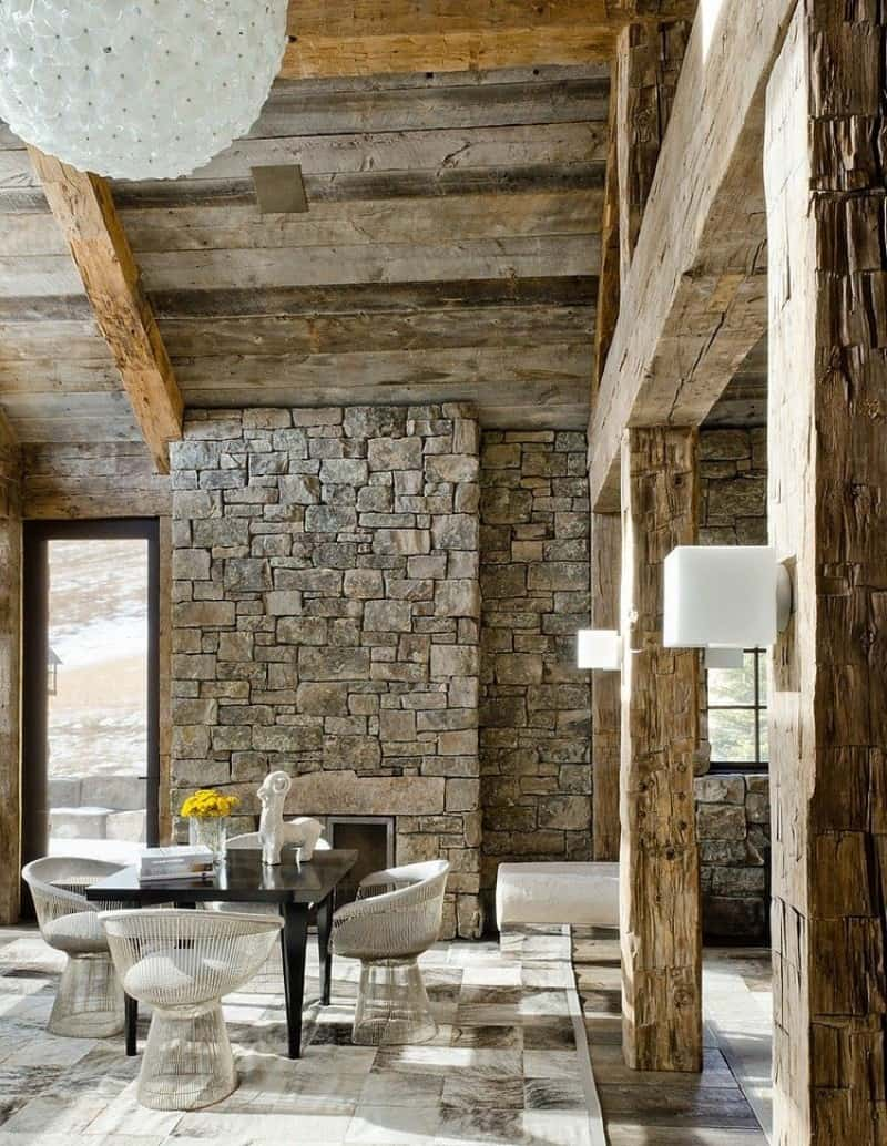 Rustic modern decor for country spirited sophisticates for Rustic dining room designs
