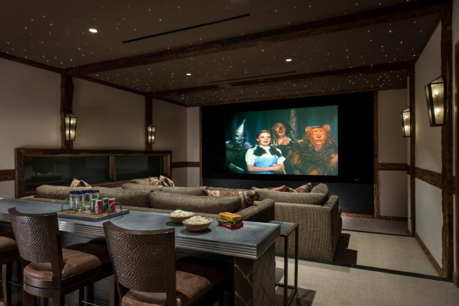 Home cinema in the basement by Angelica Henry Design