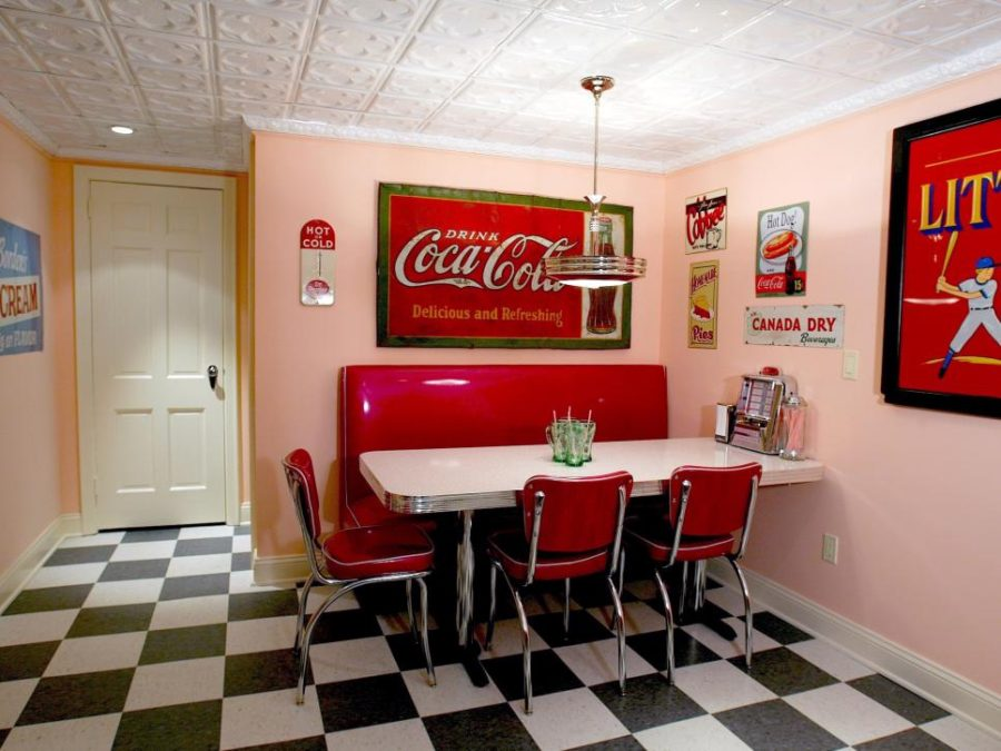 Home diner in the basement by Nancy Leffler Mikulich