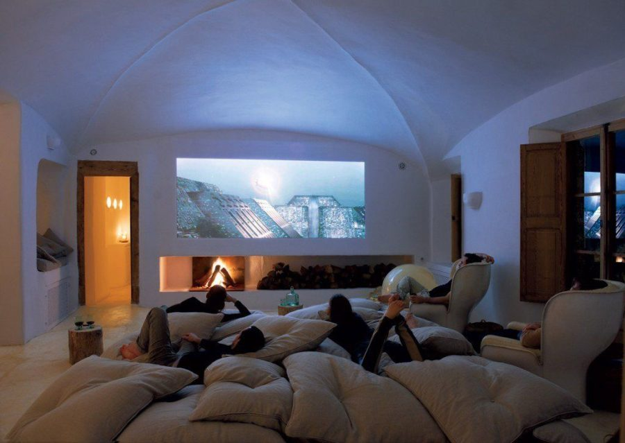 Home theatre in basement