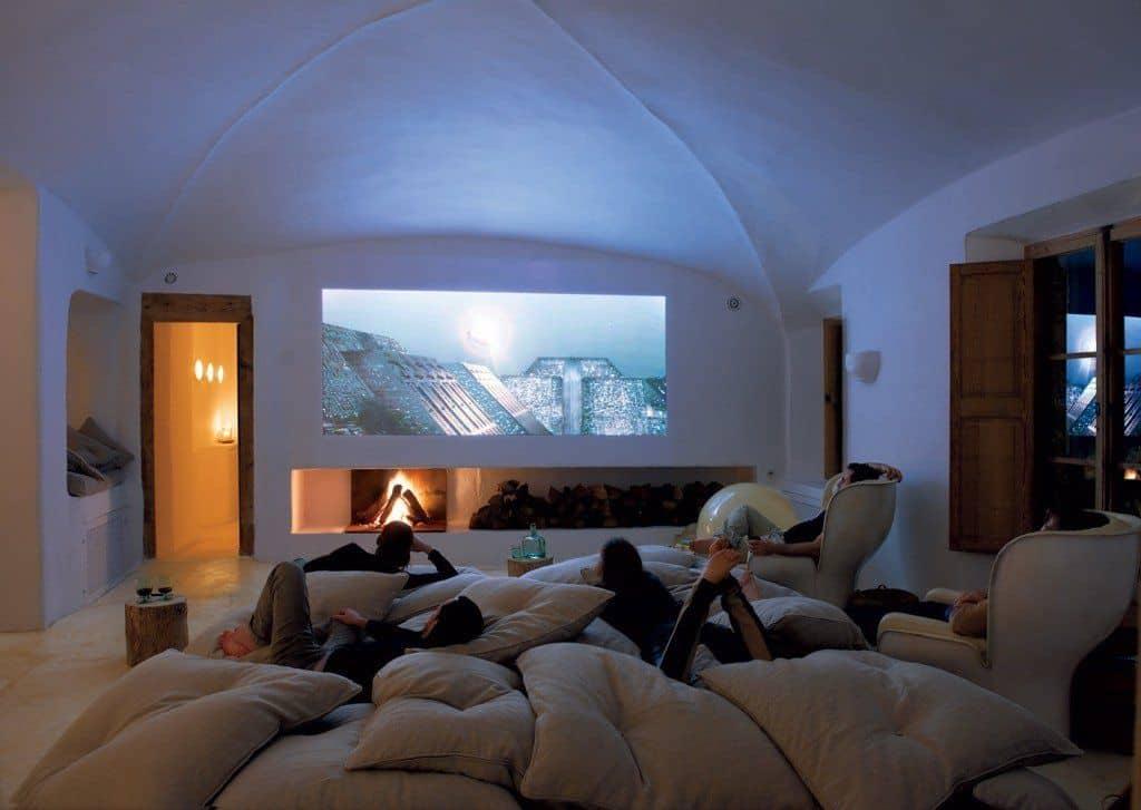 Home theatre in basement