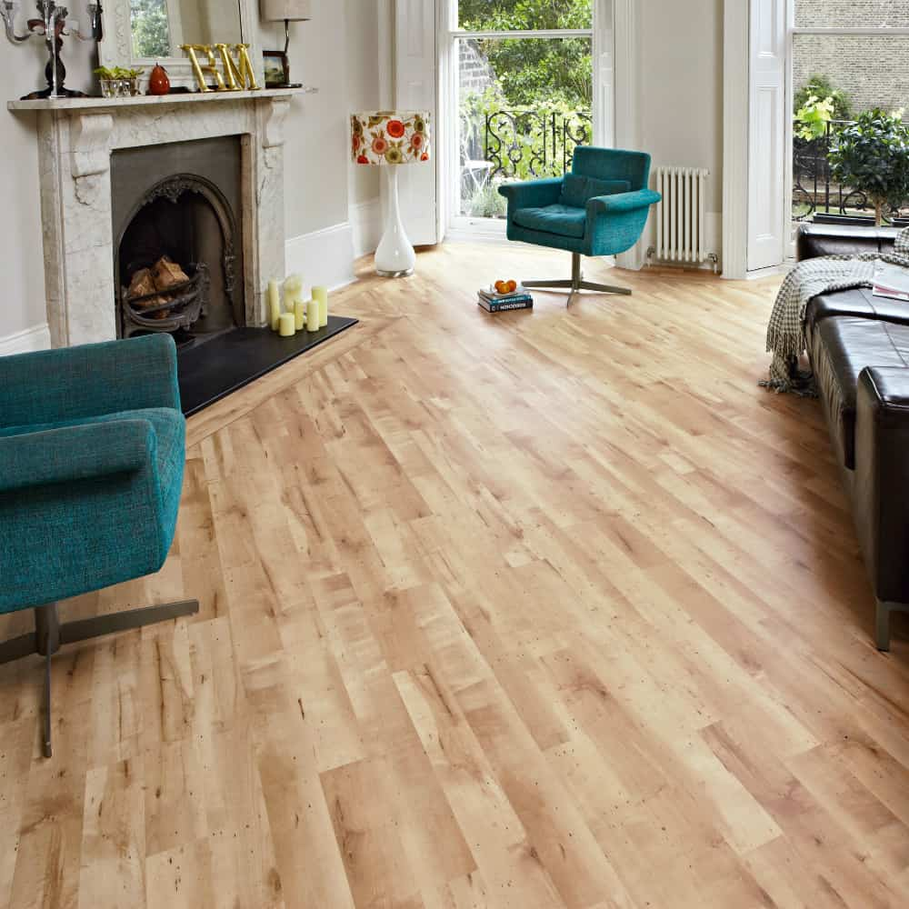Honey Maple wood look tiles by Karndean Design Flooring