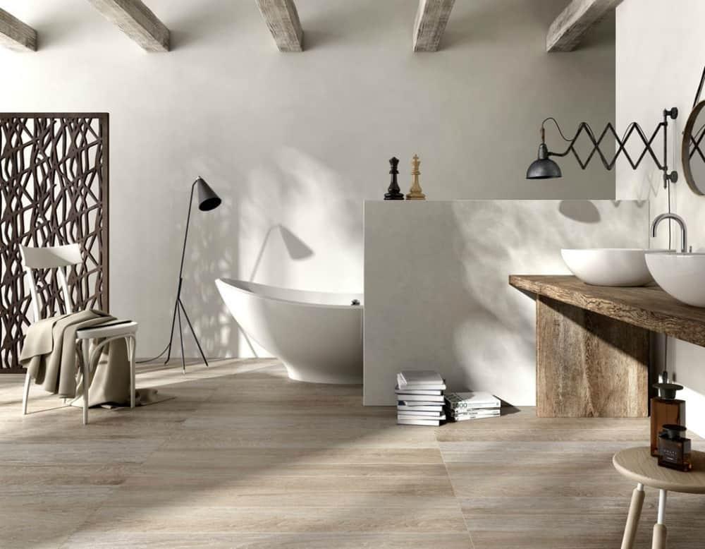 In Wood maple wood look tile