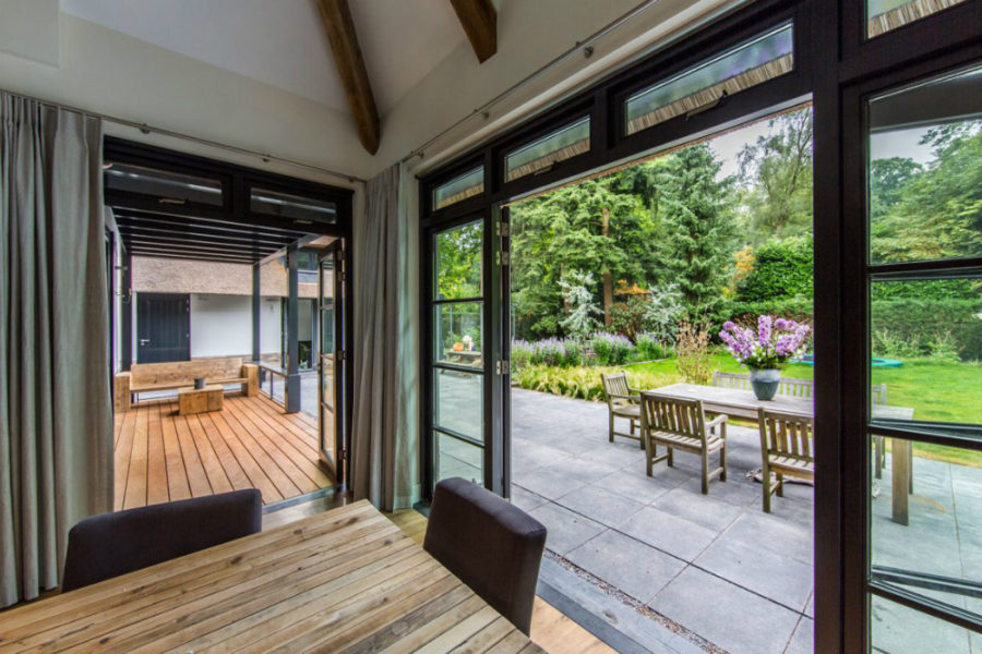 Indoor/outdoor spaces are tightly connected