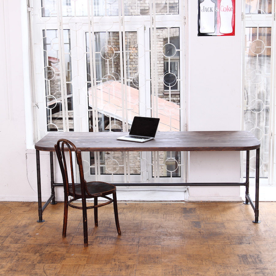 View In Gallery Industrial Office Desk 900x900 Make Your Office More Eco  Friendly With A Reclaimed Wood Desk