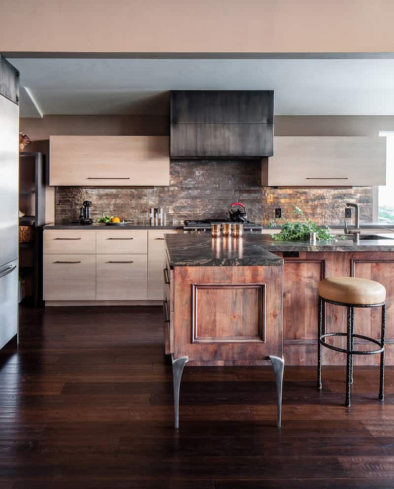 ... Industrial Chic And Rustic Modern Kitchen By Applegate Tran Interiors