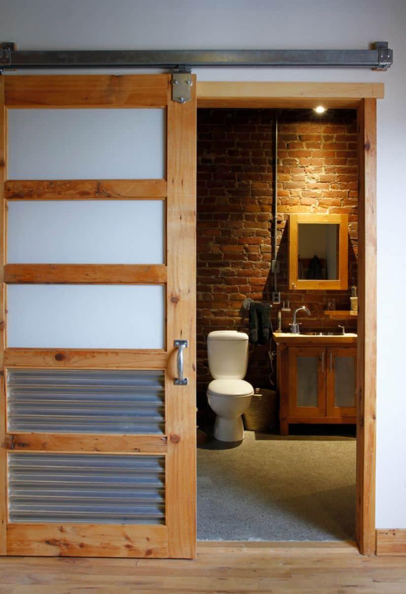 Industrial styled barn door