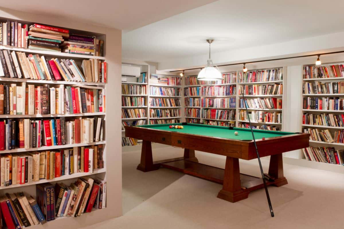 Keep in basement the book collection