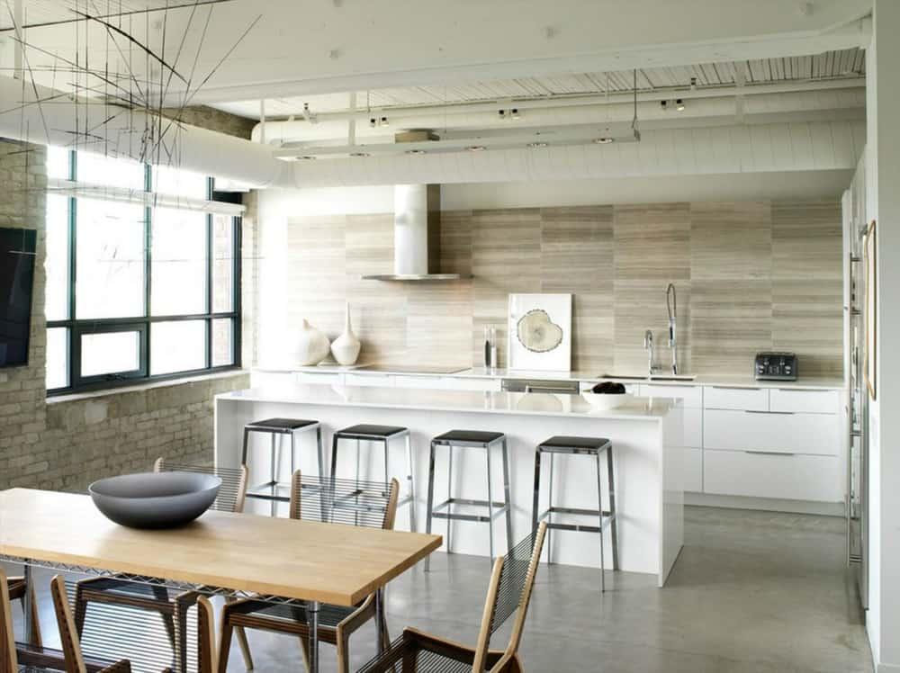 Loft-style kitchen by Croma Design