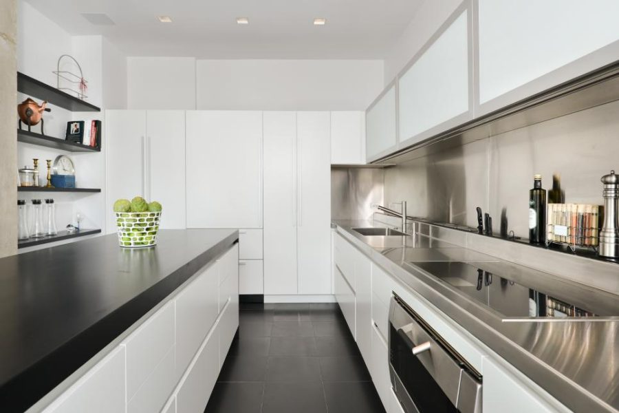 Modern galley kitchen by Dresner Design