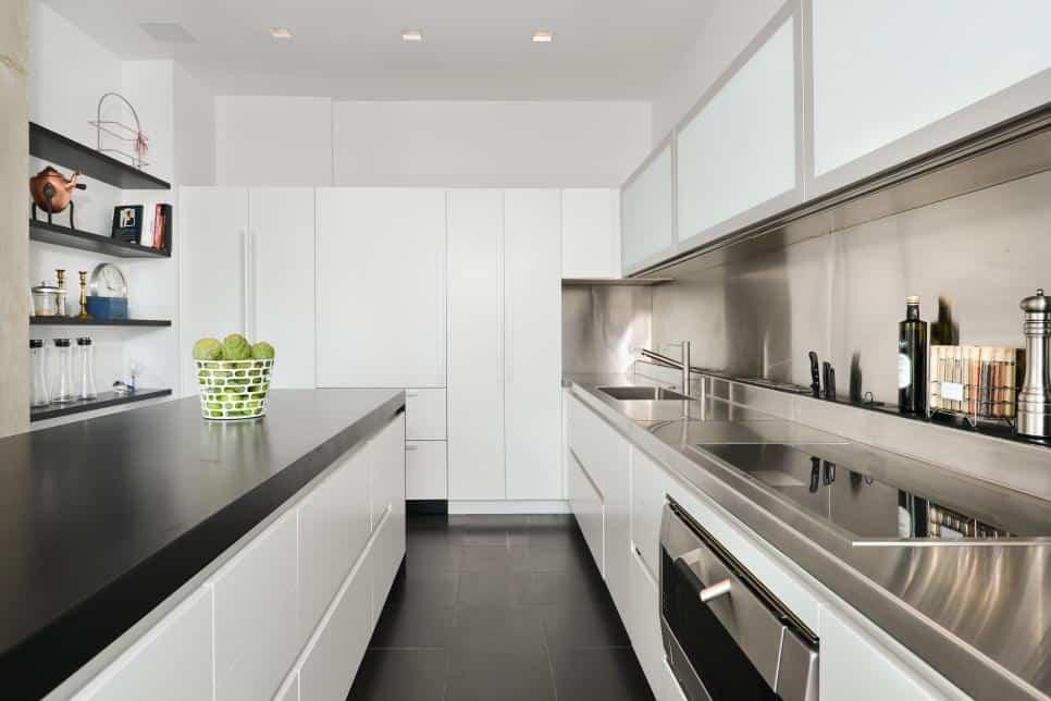 Modern galley kitchen by Dresner Design
