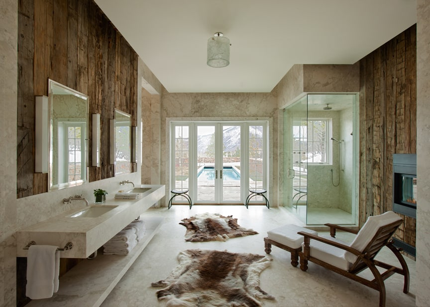 view in gallery modern rustic bath in an aspen chalet by frank de basi interiors - Modern Rustic Shower