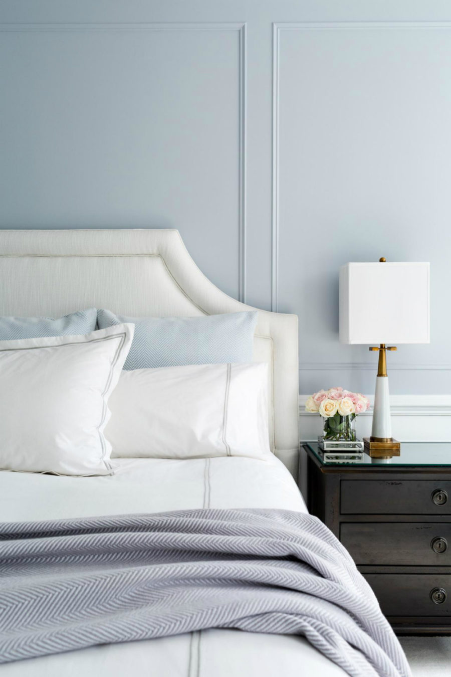 Pastel blue bedroom
