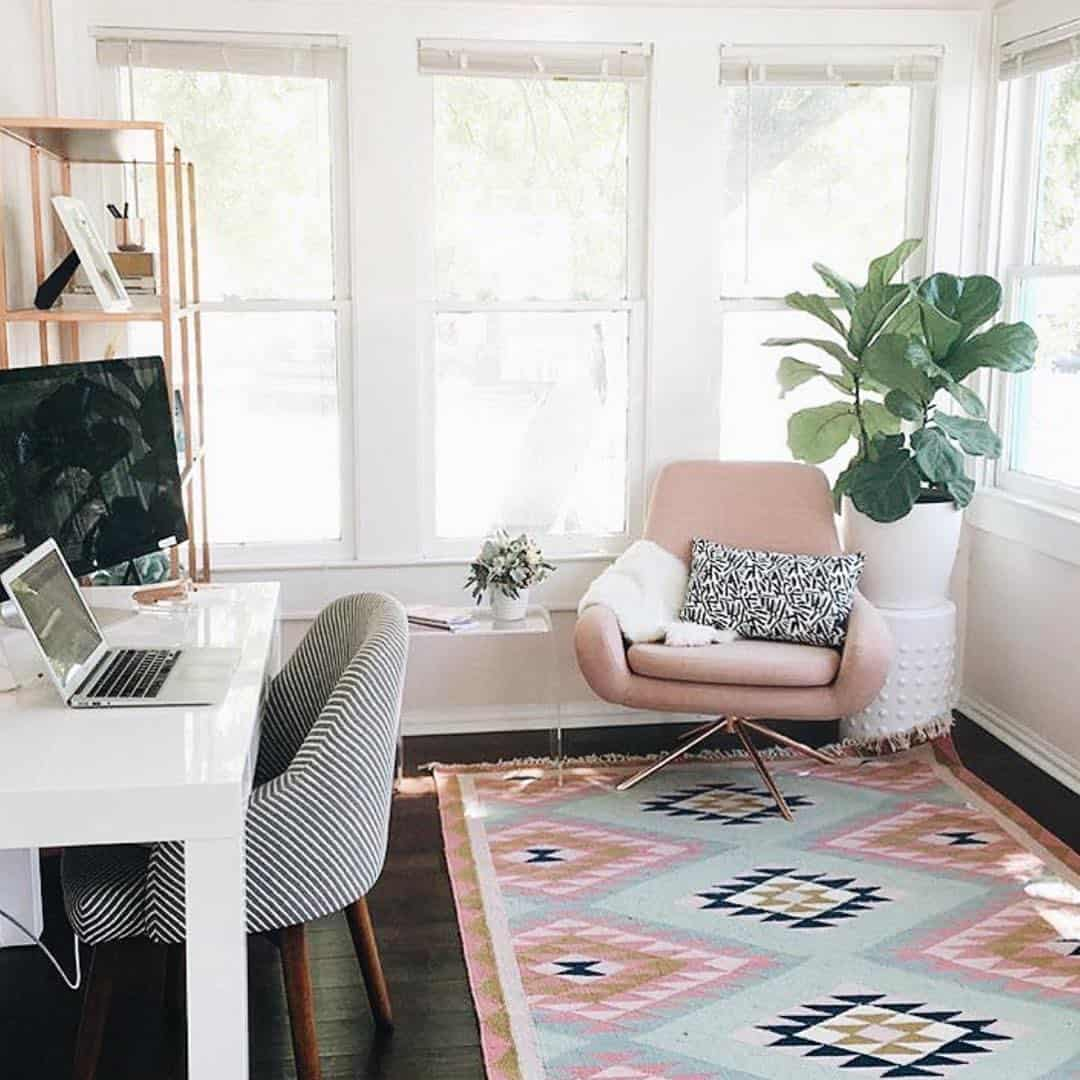 Pastel home office