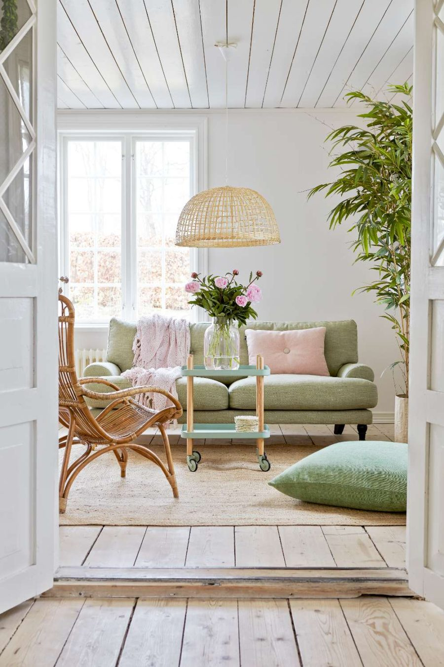 Pastel sunroom