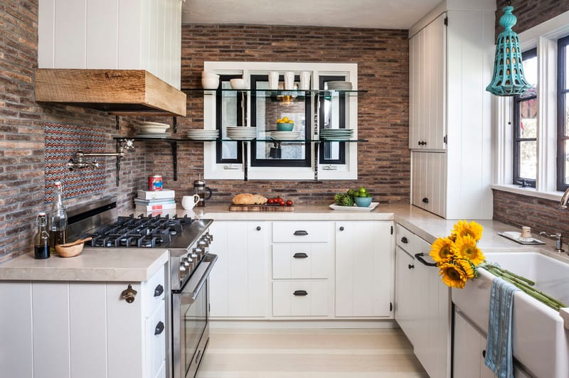 Peak Construction and Design's rustic modern kitchen