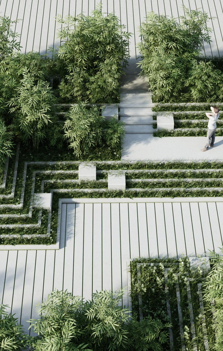 Penda maze garden