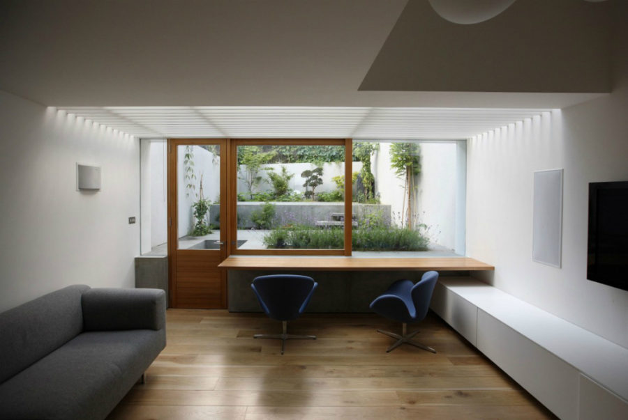 View In Gallery Private House Basement Design By Tamir Addadi Architecture