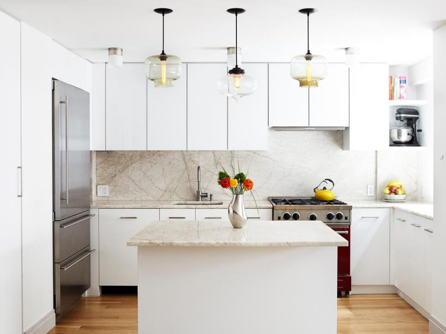 Quartz Backsplash by Lauren Rubin Architecture