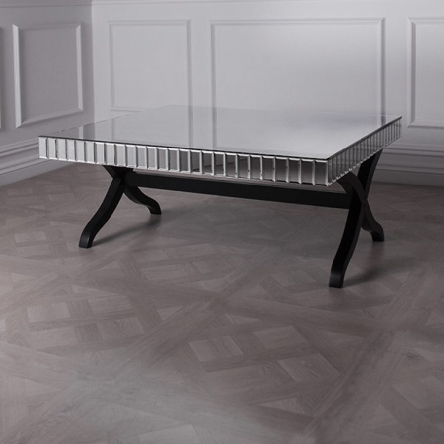 Quartz Square Mirrored Coffee Table