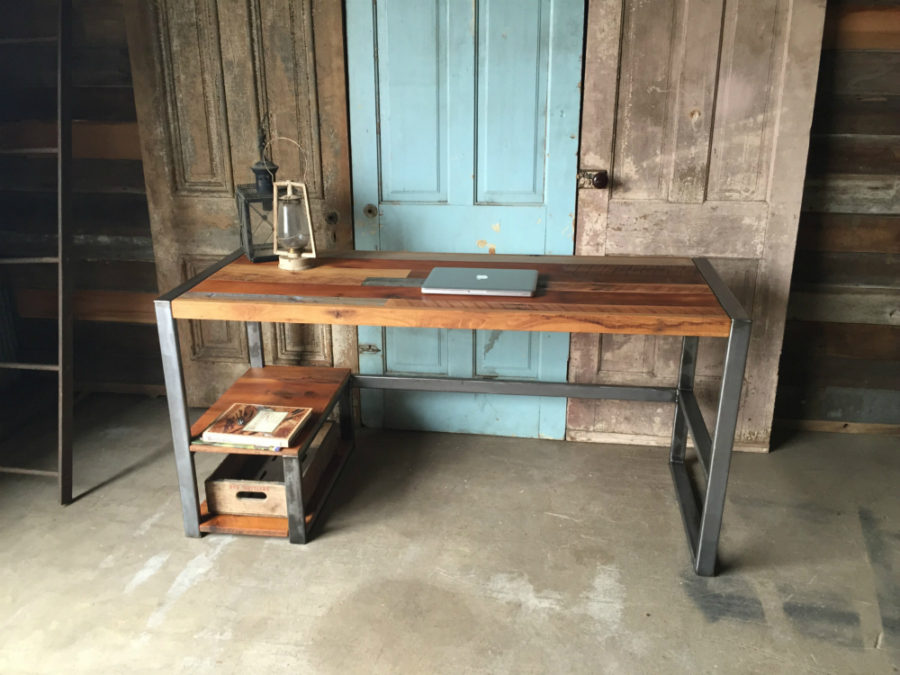 Reclaimed Barn Wood Patchwork Desk