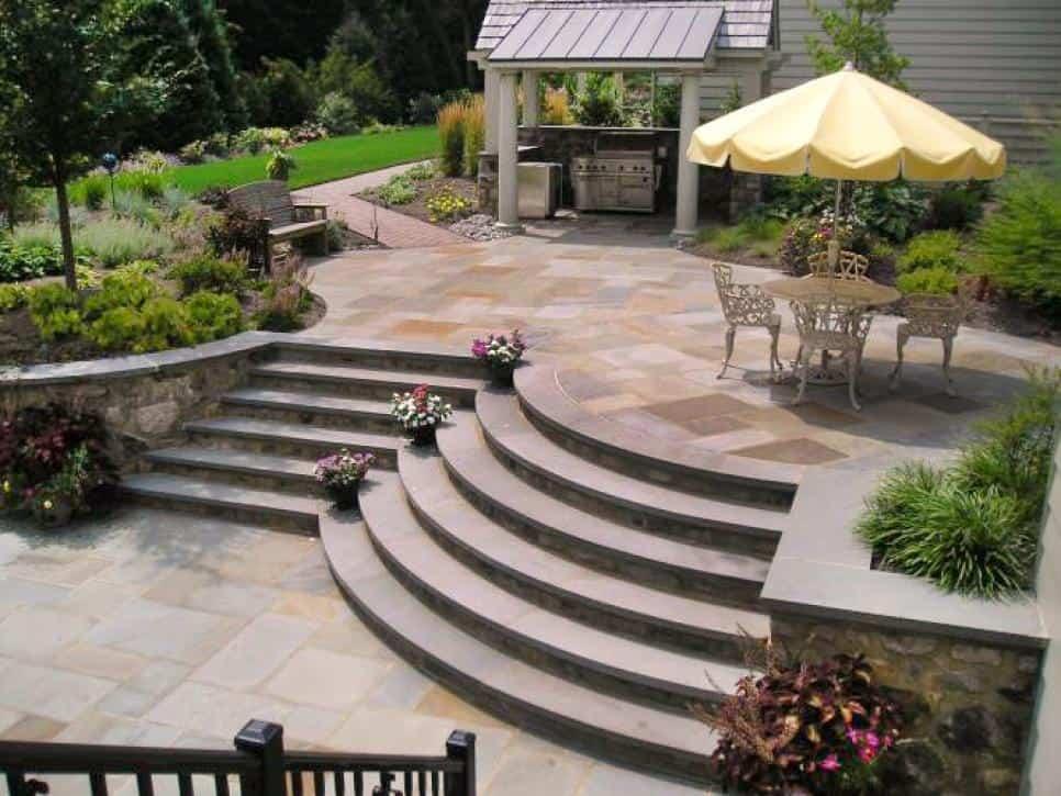 Romantic patio