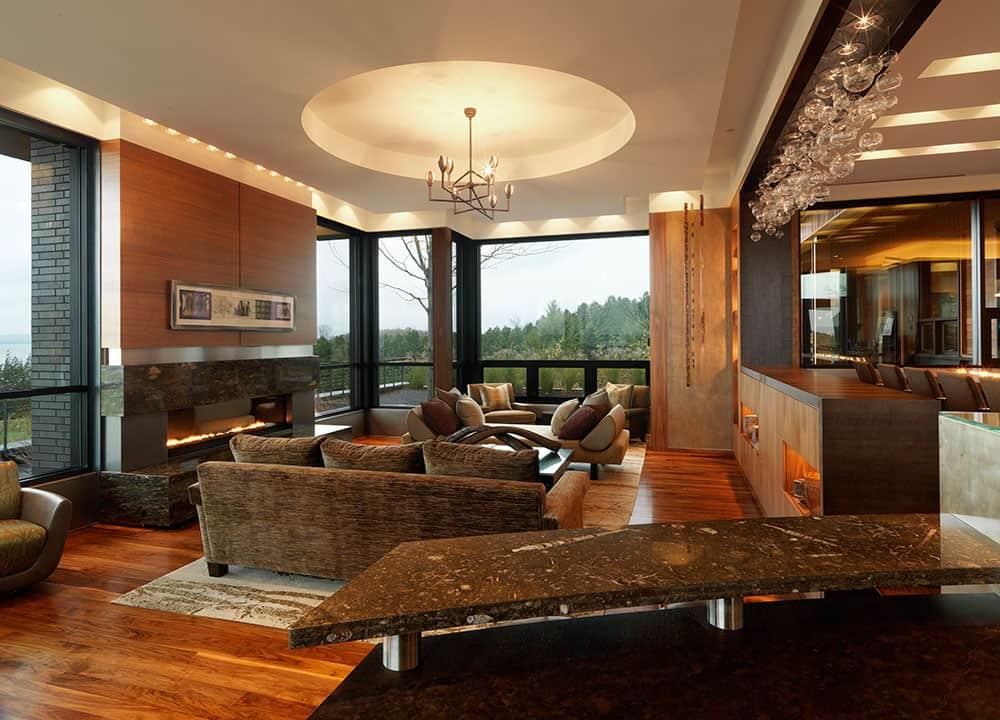 Rustic modern Quaker Bluff Residence by Birdseye Design