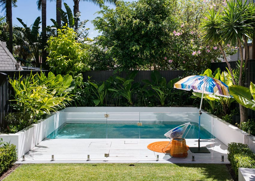 Brilliant backyard ideas big and small for Garden pool plans