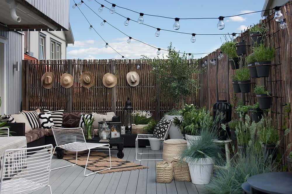 Small fenced backyard