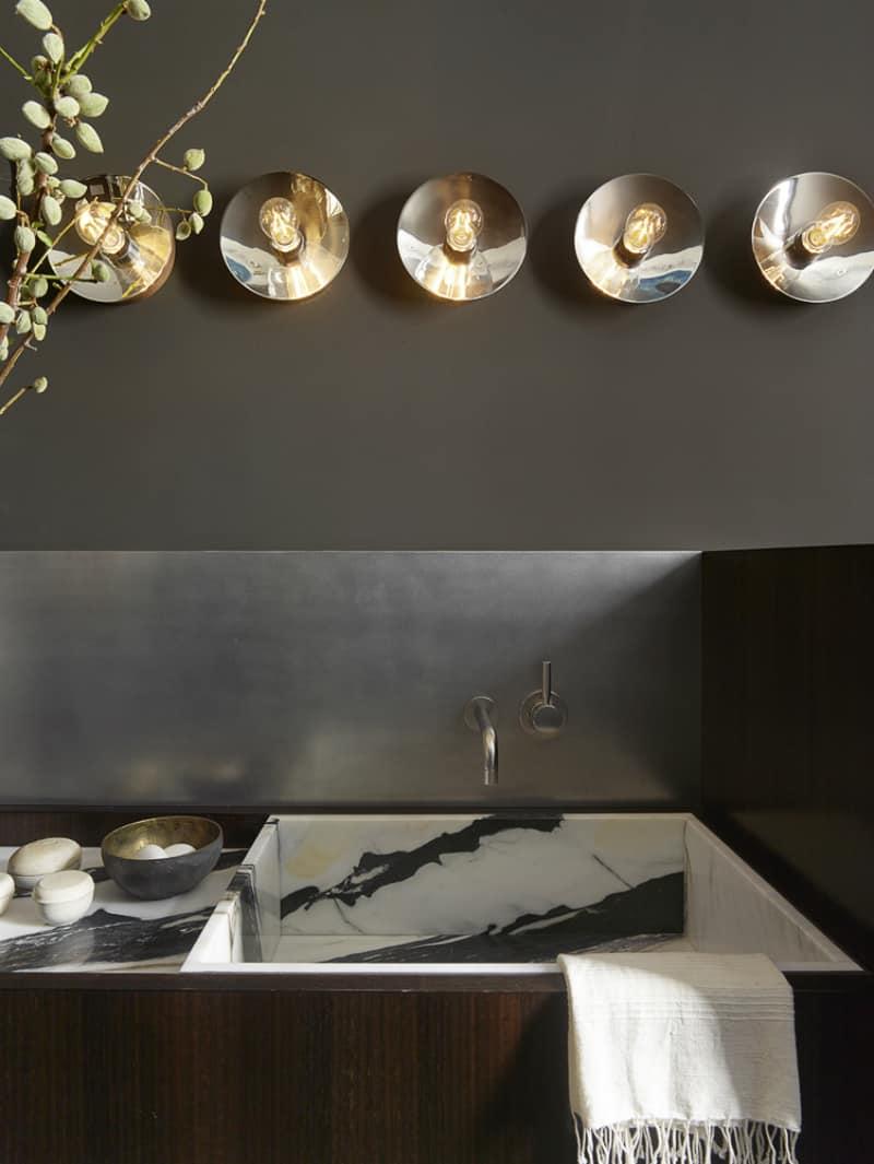 Stainless steel kitchen backsplash by Martin Group