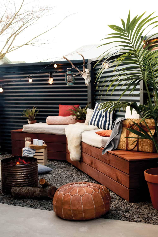 Stylish backyard