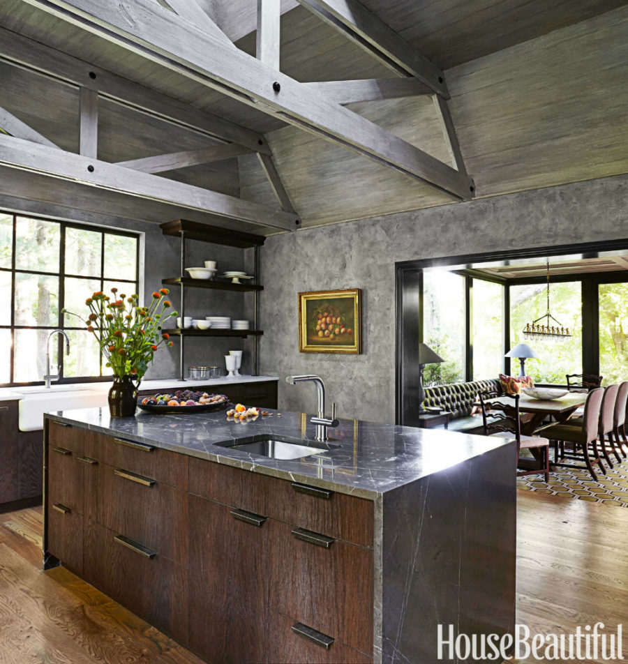 Rustic modern decor for country spirited sophisticates for Modern kitchen decor