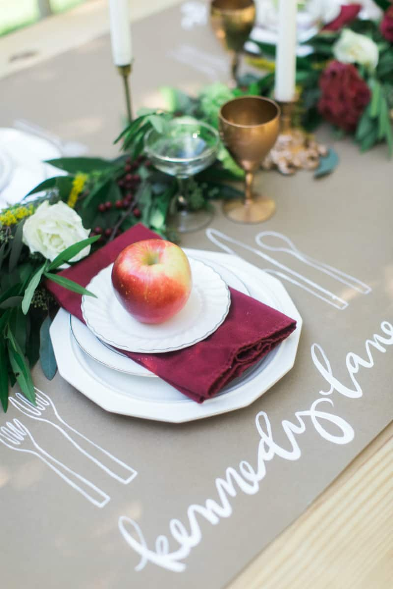Thanksgiving table setting. Kathryn McCrary Photography