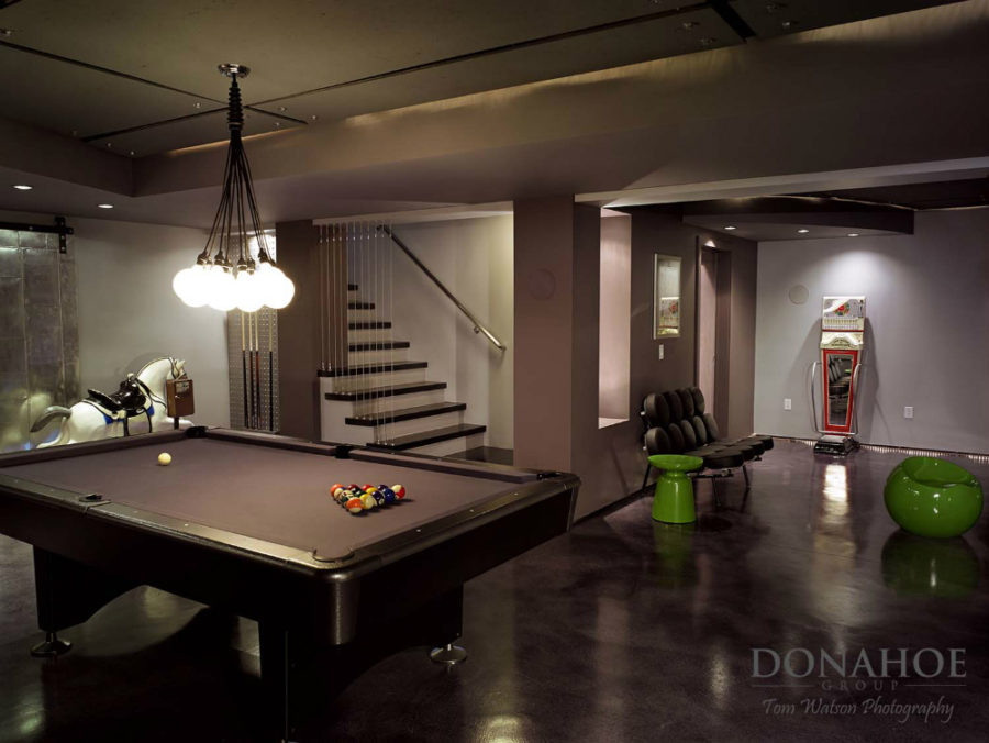 ... The Recreational Haven Basement By Donahoe Group