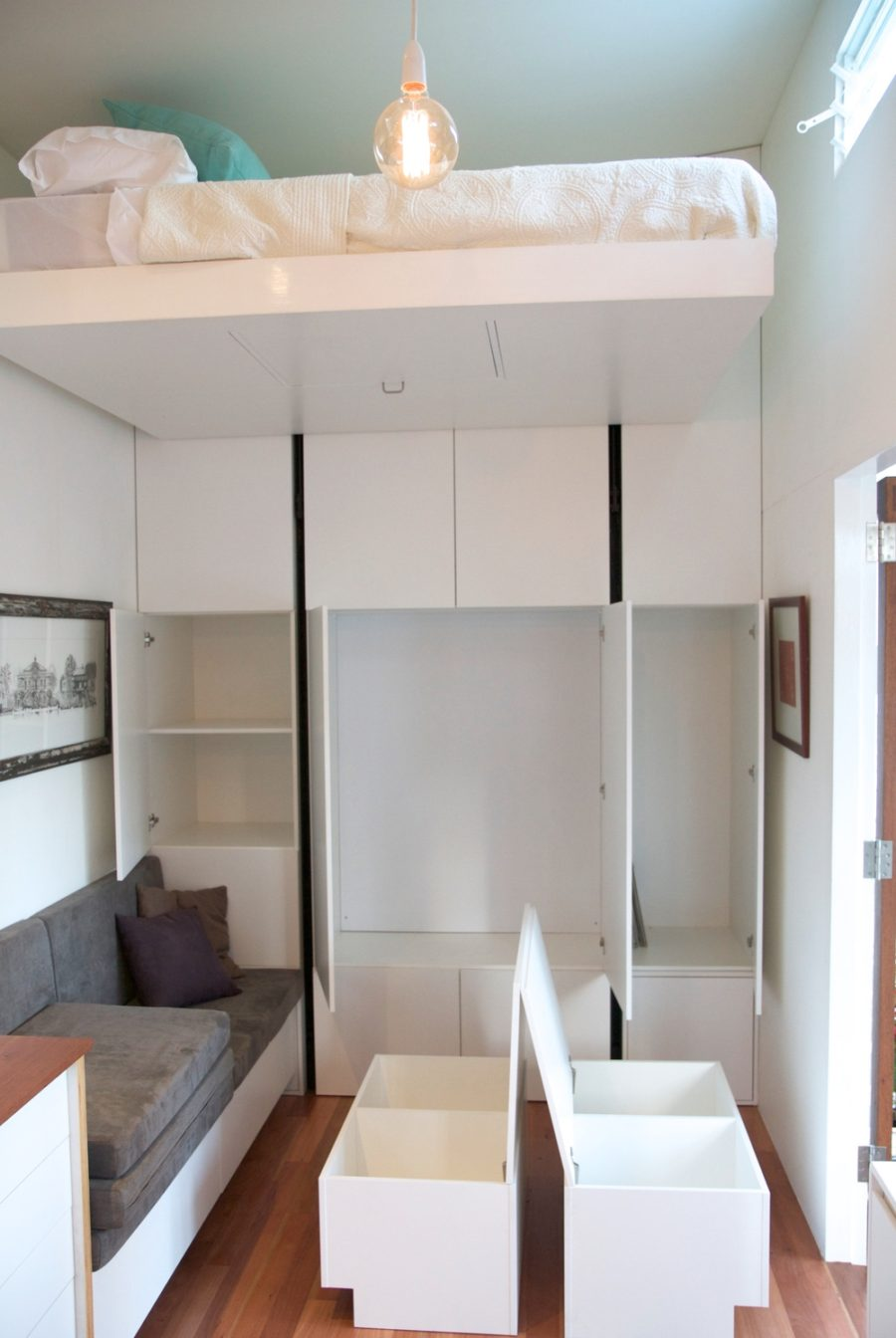 Tiny House Company tiny house lounge and storage