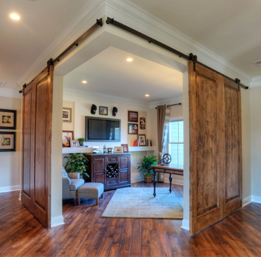 Twoo sliding barn doors