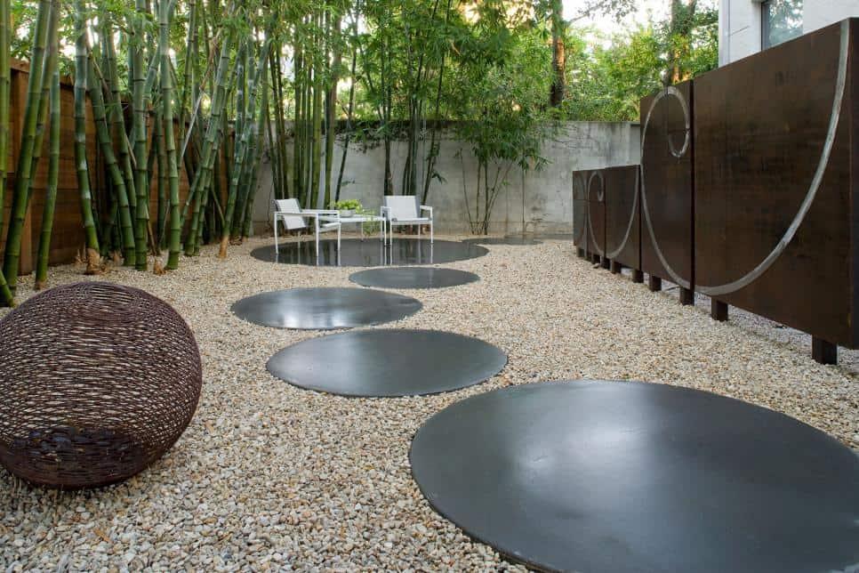 Unusual patio