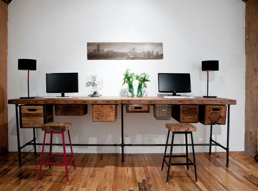 Urban Wood Goods reclaimed desk