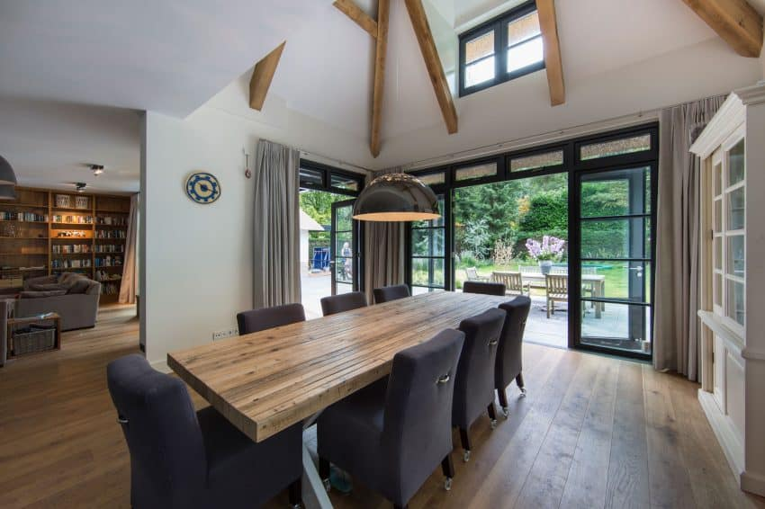 Vaulted ceilings visually enhance space